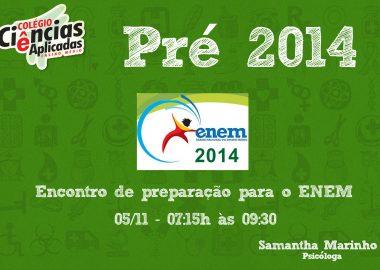 Encontro de preparação para o ENEM 2014