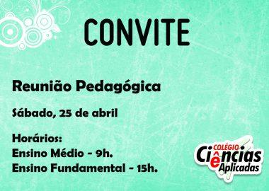 Convite - Reunião Pedagógica