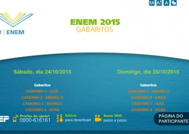 Confira o gabarito oficial do Enem 2015!
