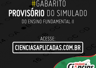 Gabarito Provisório - Simulado do 2º Bimestre - Ensino Fundamental II