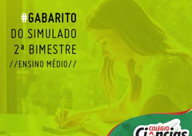 Confira os Gabaritos - Simulado 2ª Bimestre do Ensino Médio - Isolado