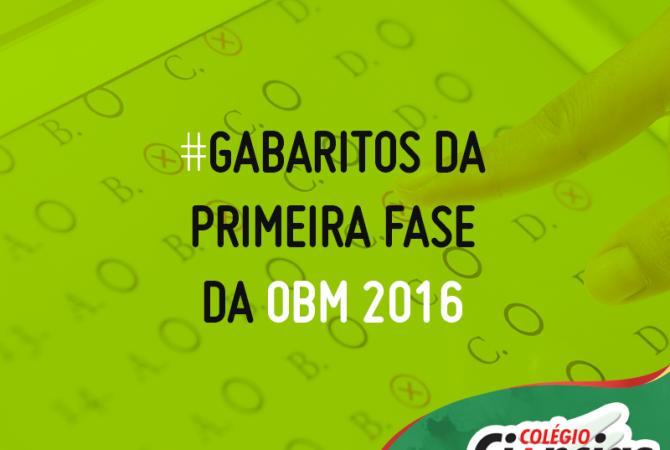 Confira os Gabaritos da Primeira Fase da OBM 2016