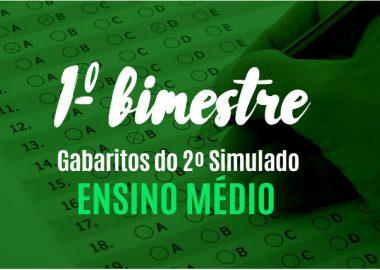 Gabaritos definitivos do 2º simulado - Ensino Médio