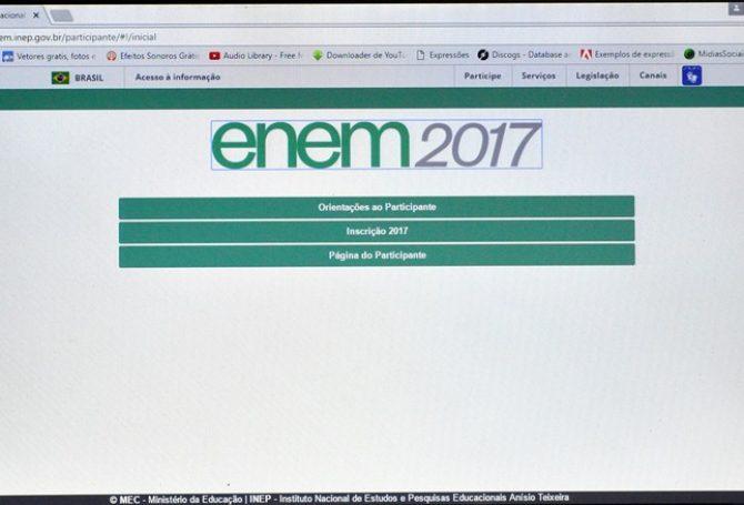 Abertas inscrições para o Enem 2017