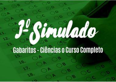 Gabaritos do 3º Simulado - Ciências o Curso Completo