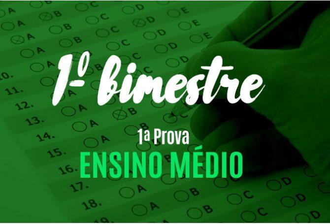 Gabaritos Definitivos - 1ª prova do 1º bimestre