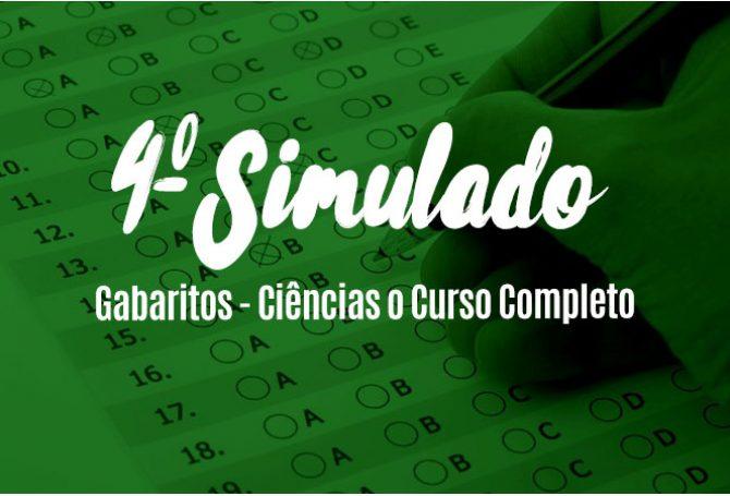 Gabaritos - 4º Simulado