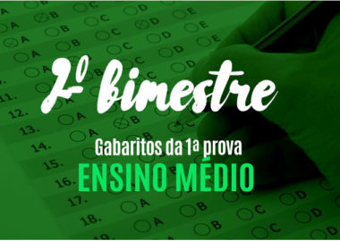 Gabaritos definitivos da 1ª prova do 2º bimestre